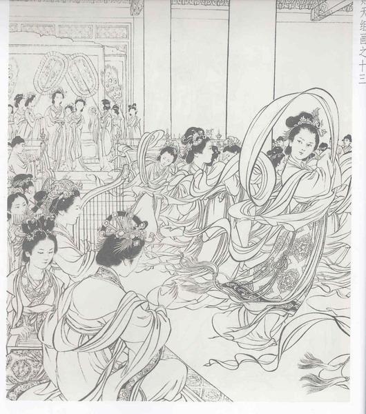 刘继卣大师的线描艺术欣赏 武则天选页