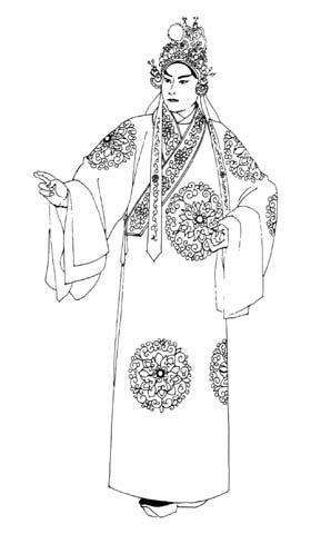 京剧人物线描