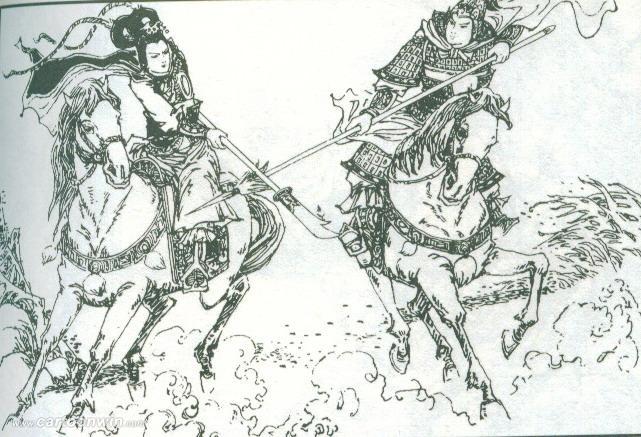 手绘中国古代将军