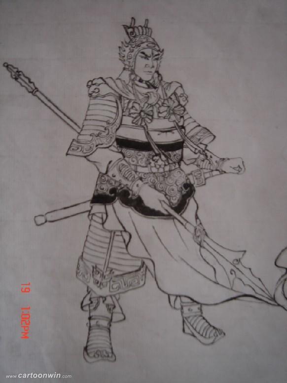 二郎神纹身图案内容图片分享