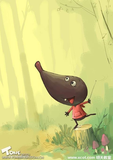 分享:儿童插画系列教程:可爱的鼹鼠